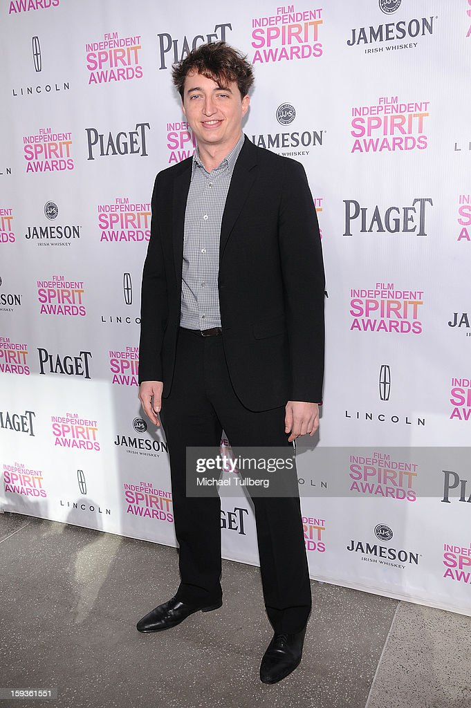 Director Benh Zeitlin arrives at a brunch honoring the nominees for the 2013 Film Independent Filmmaker Grant and Spirit Awards at BOA Steakhouse on January 12, 2013 in West Hollywood, California.