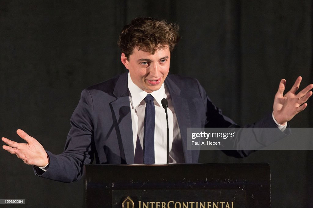 Director Benh Zeitlin receives the New Generation award for 'Beast of the Southern Wild' at the 38th Annual Los Angeles Film Critics Association Awards held at the InterContinental Hotel on January 12, 2013 in Century City, California.