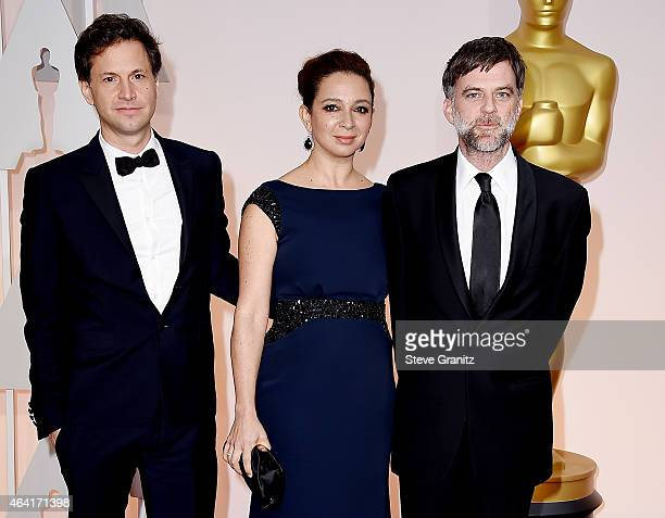 Director Bennett Miller actress Maya Rudolph and director Paul Thomas Anderson attend the 87th Annual Academy Awards at Hollywood Highland Center on...