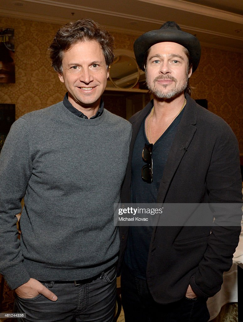 Director Bennett Miller (L) and producer/actor Brad Pitt attend the 15th Annual AFI Awards Luncheon at Four Seasons Hotel Los Angeles at Beverly Hills on January 9, 2015 in Beverly Hills, California.