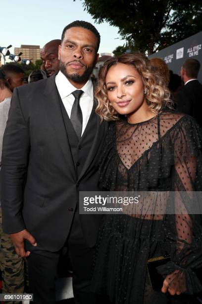 Director Benny Boom and actor Kat Graham at the 'ALL EYEZ ON ME' Premiere at Westwood Village Theatre on June 14 2017 in Westwood California