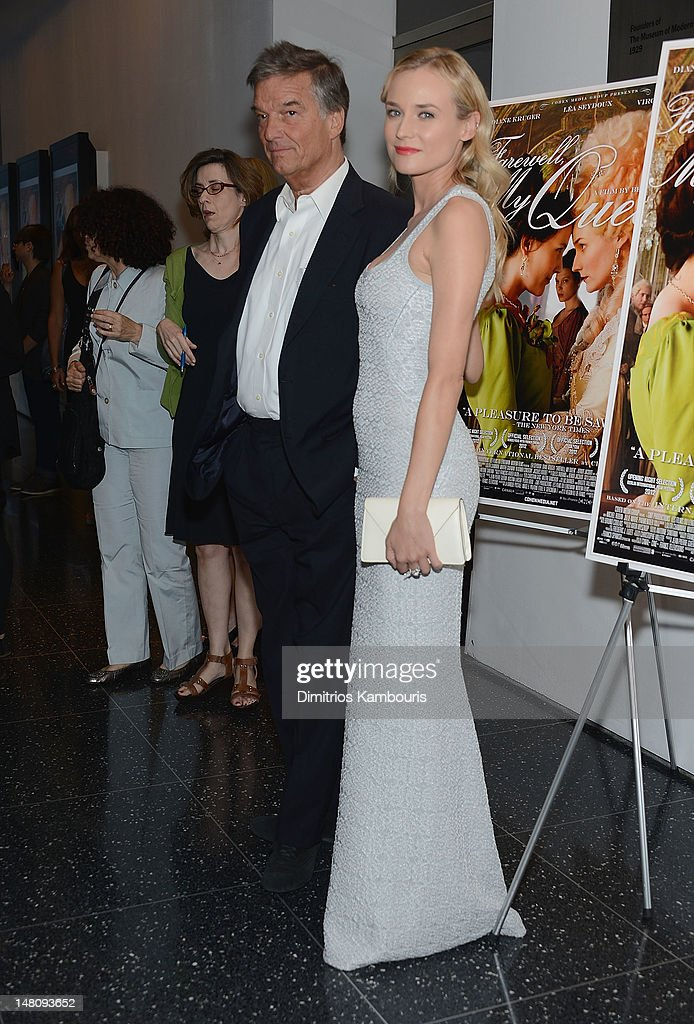 Director Benoit Jacquot and actress <a gi-track='captionPersonalityLinkClicked' href=/galleries/search?phrase=Diane+Kruger&family=editorial&specificpeople=202640 ng-click='$event.stopPropagation()'>Diane Kruger</a> attend the 'Farewell, My Queen' premiere at the Museum of Modern Art on July 9, 2012 in New York City.