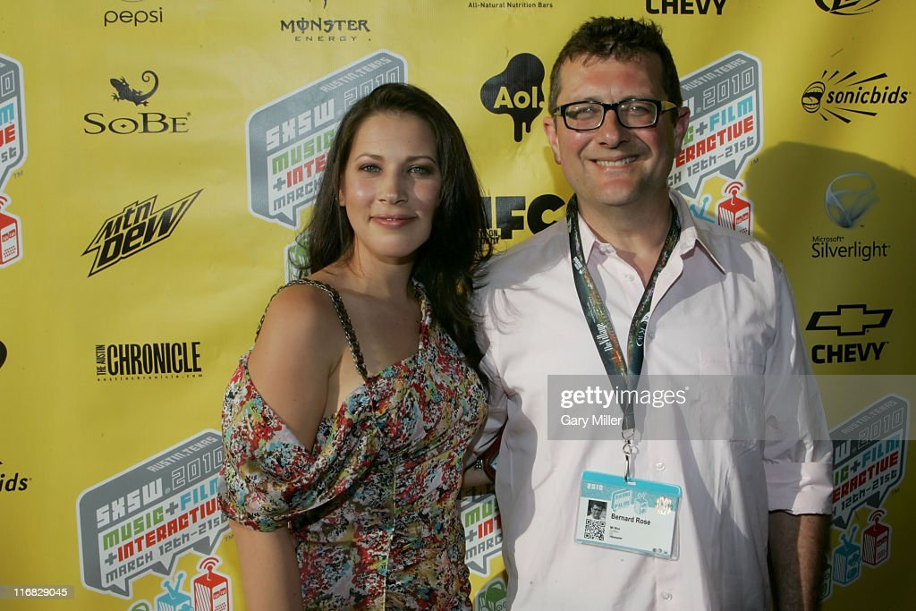Director Bernard Rose (R) and Edie Dakota arrive on the red carpet for a screening of Mr. Nice at the Paramount Theater during the South By Southwest Film Festival on March 14, 2010 in Austin, Texas.