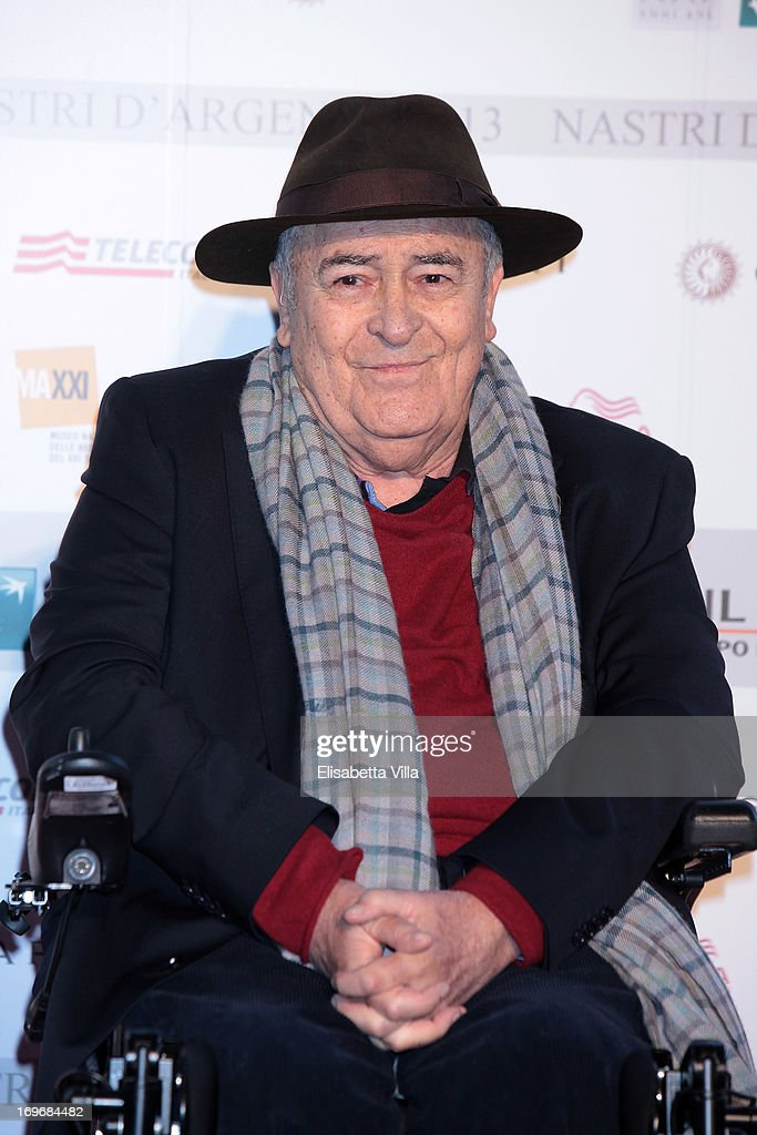 Director <a gi-track='captionPersonalityLinkClicked' href=/galleries/search?phrase=Bernardo+Bertolucci&family=editorial&specificpeople=228513 ng-click='$event.stopPropagation()'>Bernardo Bertolucci</a> attends '2013 Nastri d'Argento' Award Nominations at Maxxi Museum on May 30, 2013 in Rome, Italy.