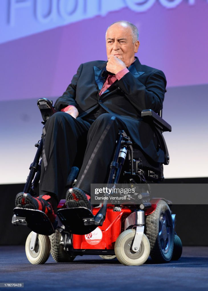Director <a gi-track='captionPersonalityLinkClicked' href=/galleries/search?phrase=Bernardo+Bertolucci&family=editorial&specificpeople=228513 ng-click='$event.stopPropagation()'>Bernardo Bertolucci</a> attends the Opening Ceremony during The 70th Venice International Film Festival on August 28, 2013 in Venice, Italy.