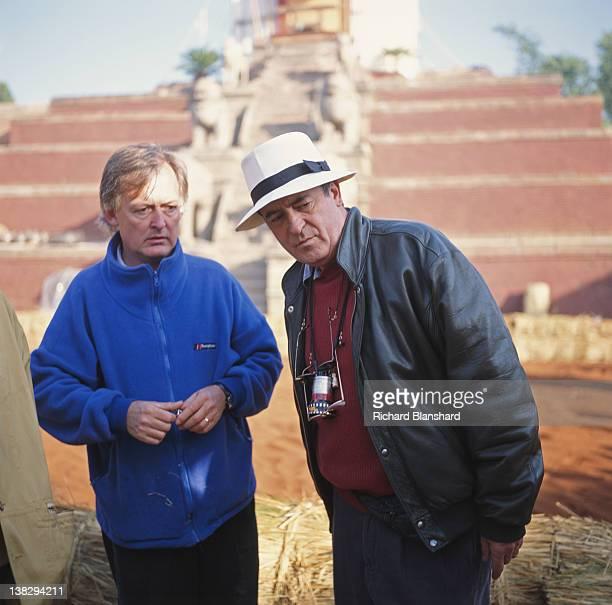 Director Bernardo Bertolucci on the set of the film 'Little Buddha' circa 1992
