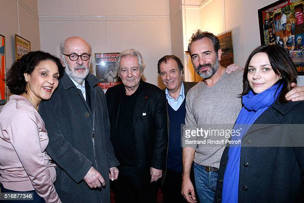 Director Bertrand Blier with his wife actress Farida Rahouadj Actors of the Piece Pierre Arditi with Daniel Russo Actor Jean Dujardin and Nathalie...