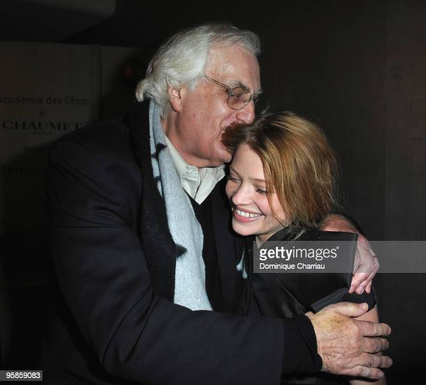 Director Bertrand Tavernier and actress Melanie Thierry Attend the Chaumet's Cocktail Party for Cesar's Revelations on January 18 2010 in Paris France
