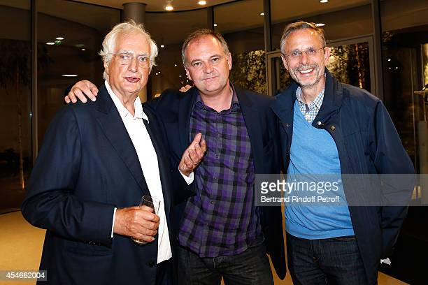 Director Bertrand Tavernier director Christian Carion and Producer Christophe Roussillon attend the 'Jerome Seydoux Pathe Foundation' Opening party...