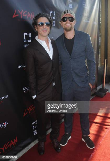 "Director Bev Land and production designer Jacob Kiesgen arrive for the Premiere Of Parade Deck's ""Lycan"" held at Laemmle's Ahrya Fine Arts Theatre on..."