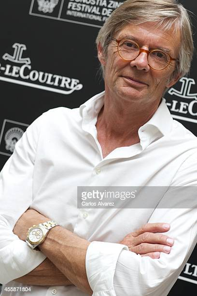 Director Bille August is seen posing at the JaeggerLeCoultre stand at the Maria Cristina Hotel during the 62nd San Sebastian International Film...