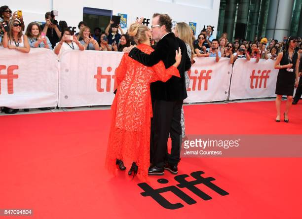 Director Bjorn Runge and Annie Starke attend the 'The Wife' premiere during the 2017 Toronto International Film Festival at Roy Thomson Hall on...