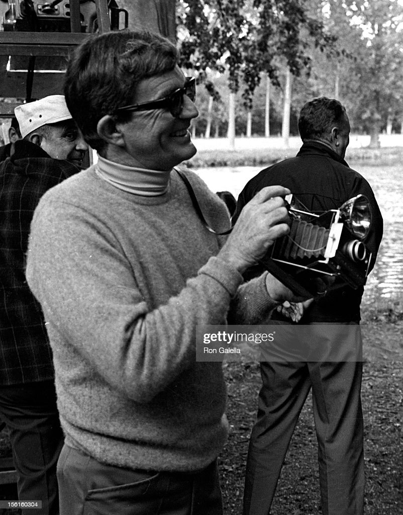Director Blake Edwards sighted on location filming 'Darling Lili' on September 27, 1968 in Paris, France.