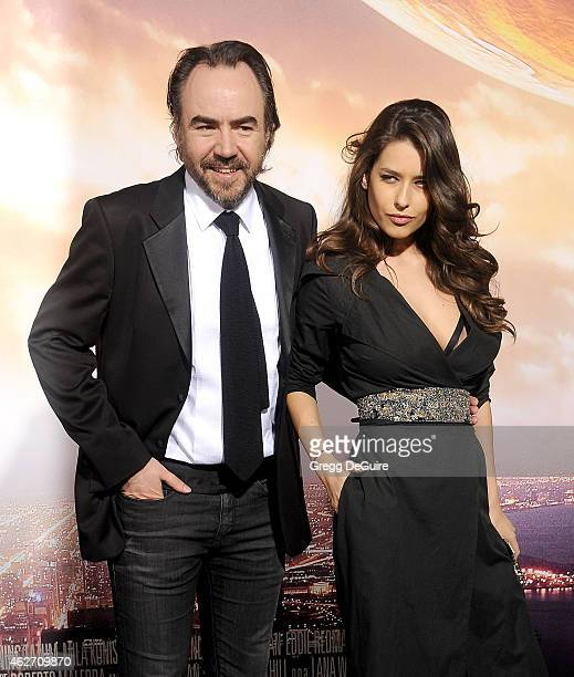 Director Bobby Paunescu and actress Alice Peneaca arrive at the Los Angeles premiere of 'Jupiter Ascending' at TCL Chinese Theatre on February 2 2015...