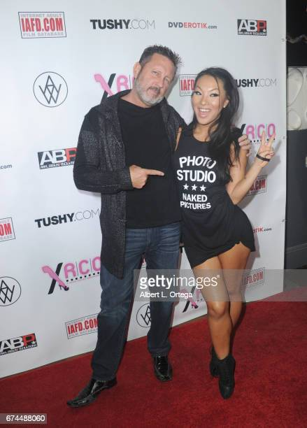 Director Brad Armstrong and actress Asa Akira arrive for the 33rd Annual XRCO Awards Show held at OHM Nightclub on April 27 2017 in Hollywood...