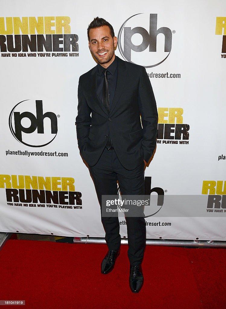 Director Brad Furman arrives at the world premiere of Twentieth Century Fox and New Regency's film 'Runner Runner' at Planet Hollywood Resort Casino...