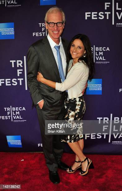 Director Brad Hall and actress Julia LouisDreyfus attend the Shorts Program Escape Clause during the 2012 Tribeca Film Festival at AMC Loews Village...
