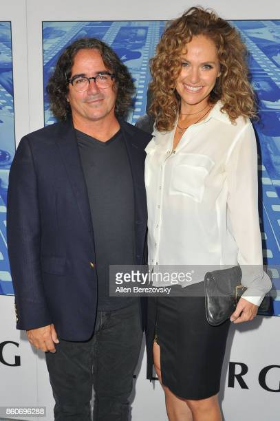 Director Brad Silberling and actress Amy Brenneman attend the Premiere of HBO's 'Spielberg' at Paramount Studios on September 26 2017 in Hollywood...