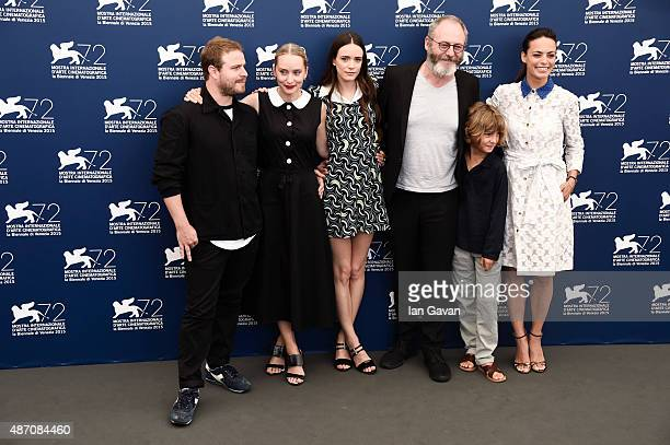 Director Brady Corbet cowriter Mona Fastvold actors Stacy Martin wearing a JaegerLeCoultre watch Liam Cunningham Tom Sweet and Berenice Bejo attend...