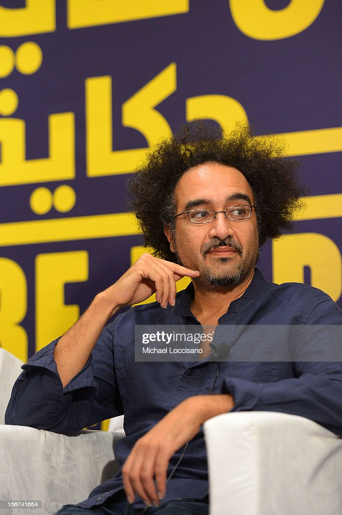 Director Brahim Fritah of 'Playground Chronicles' attends the Arab Discussion Press Conference during the 2012 Doha Tribeca Film Festival at the Al Mirqab Boutique Hotel on November 20, 2012 in Doha, Qatar.