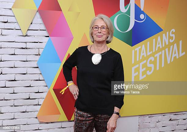 Director Brand Equity Communication and CoFounder Moleskine Maria Sebregondi poses during the IF Italians Festival at Franco Parenti Theater on...
