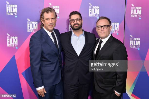 Director Brett Morgen Tim Pastore and producer Bryan Burk arrive at the European premiere of 'Jane' during the 61st BFI London Film Festival at...