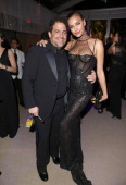Director Brett Ratner and model Irina Shayk attend the 2014 Vanity Fair Oscar Party Hosted By Graydon Carter on March 2 2014 in West Hollywood...