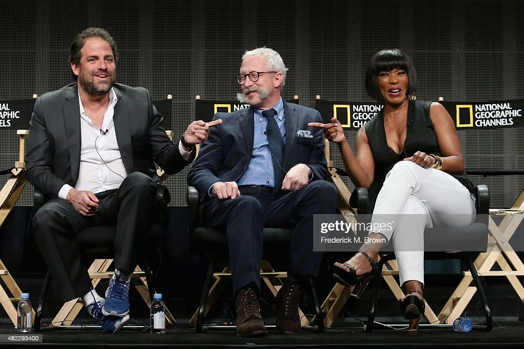 Director Brett Ratner, executive producer Kurt Sayenga and director Angela Bassett speak onstage during the 'Breakthrough' panel discussion at the National Geographic Channel portion of the 2015 Summer TCA Tour at The Beverly Hilton Hotel on July 29, 2015 in Beverly Hills, California.