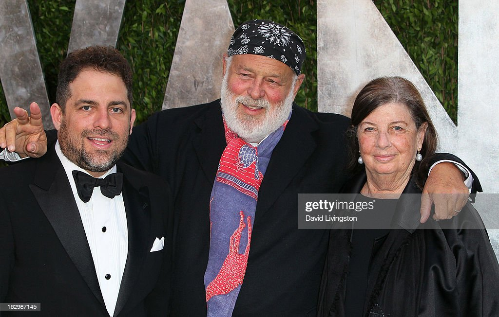 Director Brett Ratner, photographer Bruce Weber and producer Nan Bush attend the 2013 Vanity Fair Oscar Party at the Sunset Tower Hotel on February 24, 2013 in West Hollywood, California.