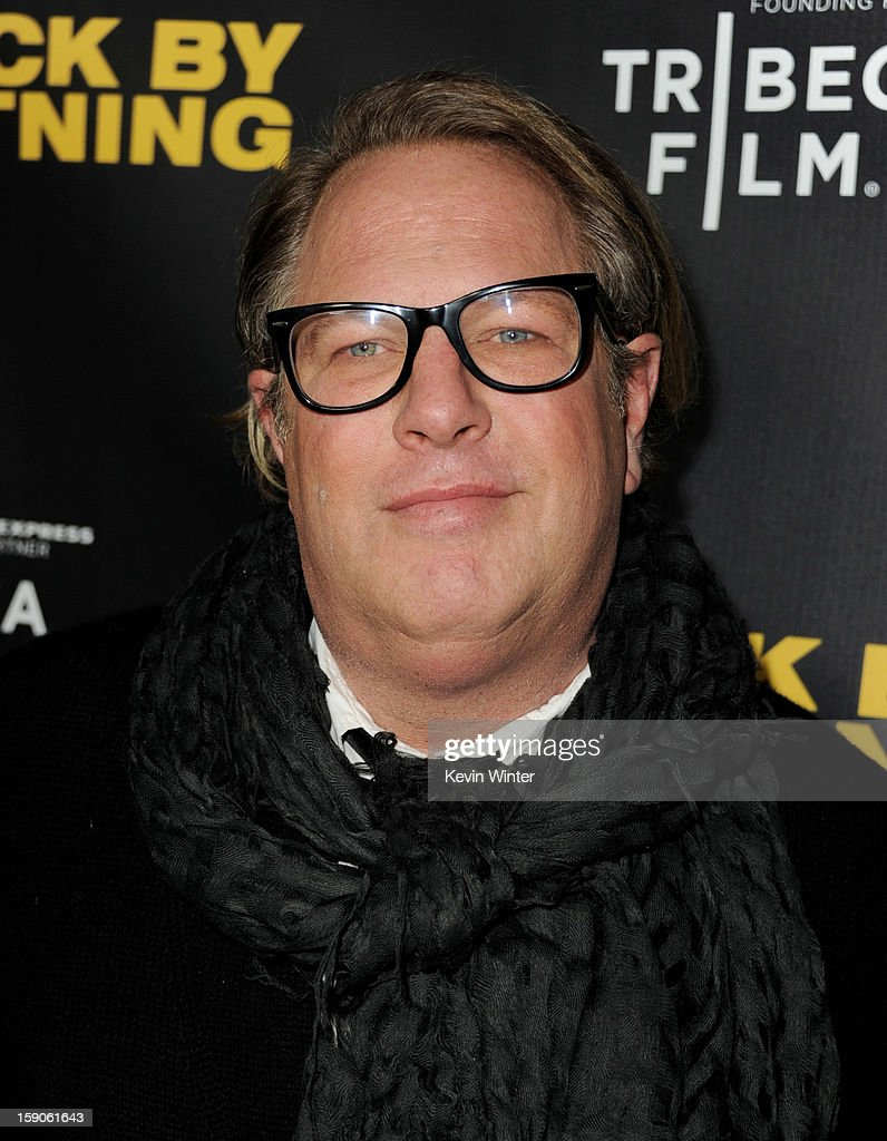 Director Brian Dannelly arrives at a screening of Tribeca Film's 'Struck By Lightning' at the Chinese Cinema 6 Theaters on January 6, 2013 in Los Angeles, California.