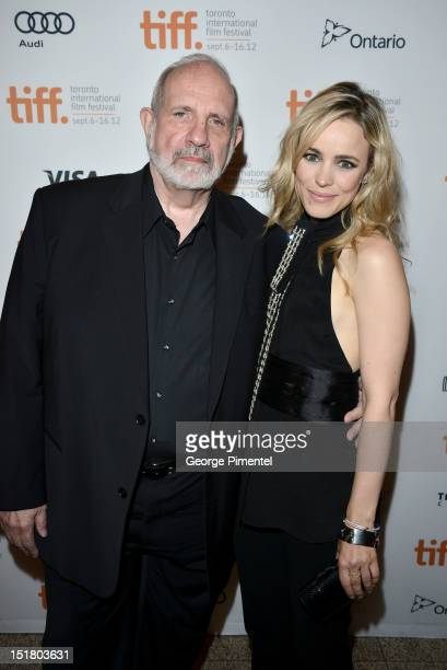 Director Brian De Palma and actress Rachel McAdams arrive at the 'Passion' Premiere during the 2012 Toronto International Film Festival at The Elgin...