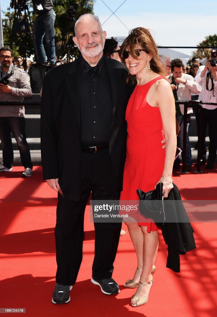 Director Brian De Palma and guest attend the Premiere of 'Un Chateau En Italie' during the 66th Annual Cannes Film Festival at the Palais des Festivals on May 20, 2013 in Cannes, Fra