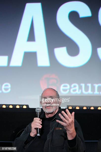 Director Brian De Palma holds a masterclass during 8th Beaune International Thriller Film Festival on April 2 2016 in Beaune France