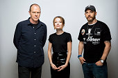 Director Brian Helgeland Emily Browning and Tom Hardy of the film 'Legend' are photographed for Los Angeles Times on September 25 2015 in Toronto...