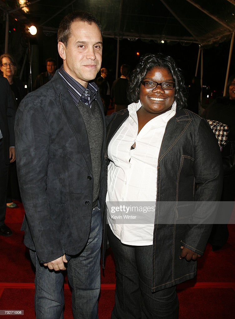 Director Brian Robbins (L) and actress Lindsey Sims-Lewis pose at the premiere of Dreamworks' 'Norbit' at the Mann Village Theatre on February 9, 2007 in Los Angeles, California.