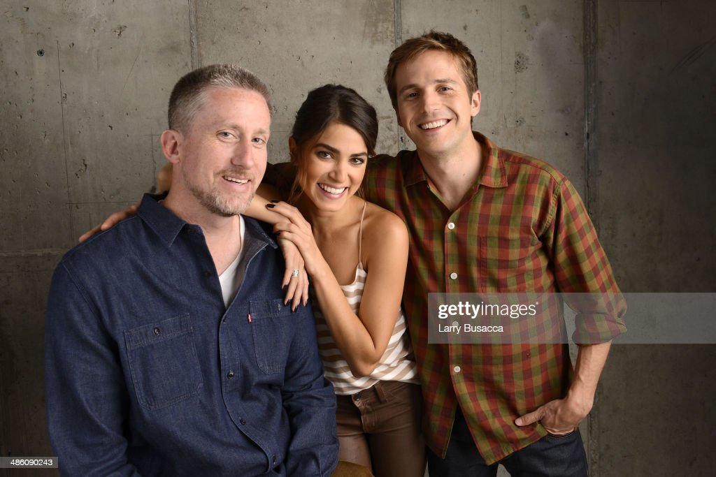 Director Brin Hill, actors <a gi-track='captionPersonalityLinkClicked' href=/galleries/search?phrase=Nikki+Reed&family=editorial&specificpeople=220844 ng-click='$event.stopPropagation()'>Nikki Reed</a> and <a gi-track='captionPersonalityLinkClicked' href=/galleries/search?phrase=Michael+Stahl-David&family=editorial&specificpeople=743926 ng-click='$event.stopPropagation()'>Michael Stahl-David</a> from 'In Your Eyes', pose for the Tribeca Film Festival Getty Images Studio on April 22, 2014 in New York City.
