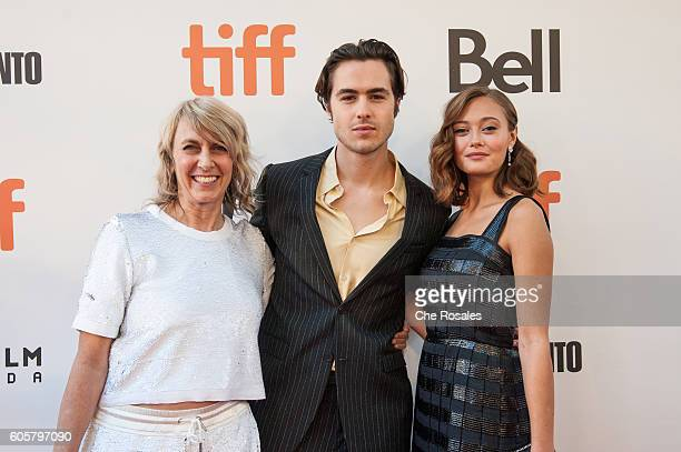 Director Bronwen Hughes Actor Ben Schnetzer and Ella Purnell attend the premiere of 'The Journey Is The Destination' at Roy Thomson Hall on September...