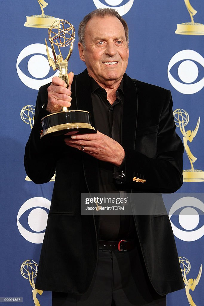 Director Bruce Gowers poses in the press room with his Emmy for Outstanding Directing for a Variety, Music or Comedy Series for 'American Idol' at the 61st Primetime Emmy Awards held at the Nokia Theatre on September 20, 2009 in Los Angeles, California.