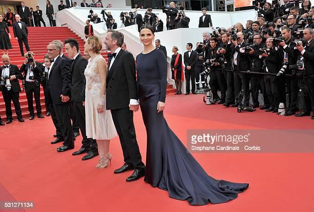 Director Bruno Dumont actors Raph Fabrice Luchini Brandon Lavieville Valeria Bruni Tesdeschi JeanLuc Vincent and Juliette Binoche attend the 'Slack...