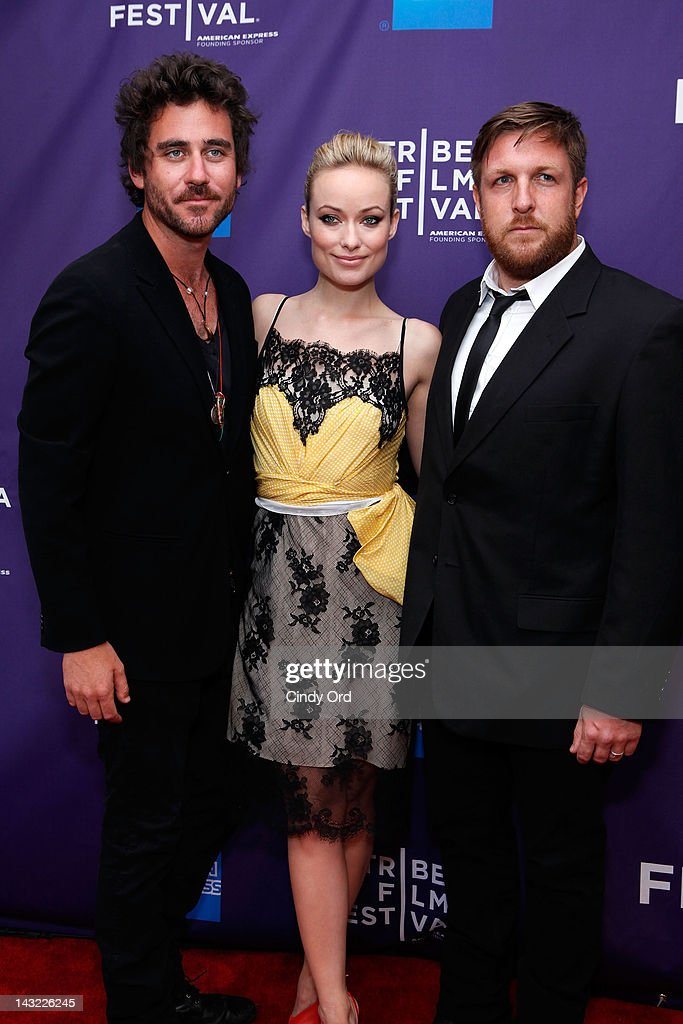 Director Bryn Mooser, executive producer <a gi-track='captionPersonalityLinkClicked' href=/galleries/search?phrase=Olivia+Wilde&family=editorial&specificpeople=235399 ng-click='$event.stopPropagation()'>Olivia Wilde</a> and director David Darg of the film 'Baseball in the Time of Cholera' attend 'Help Wanted' Shorts Program during the 2012 Tribeca Film Festival at the AMC Lowes Village on April 21, 2012 in New York City.