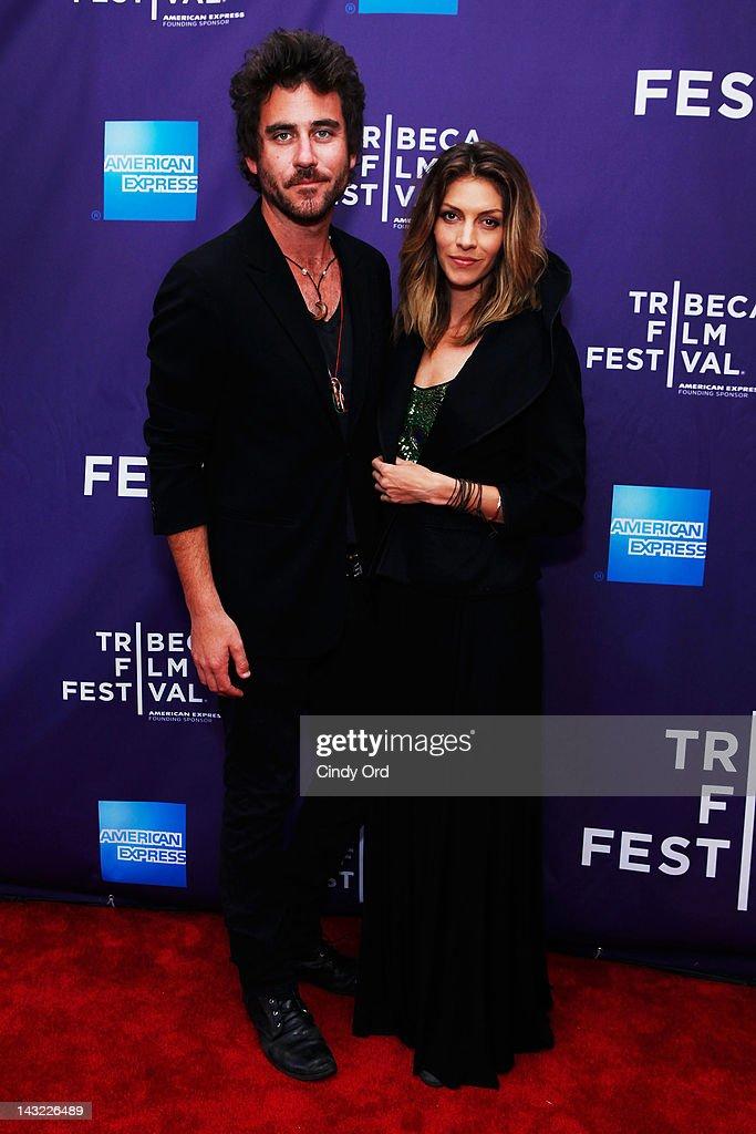 Director Bryn Mooser of the film 'Baseball in the Time of Cholera' and actress Dawn Olivieri attend 'Help Wanted' Shorts Program during the 2012 Tribeca Film Festival at the AMC Lowes Village on April 21, 2012 in New York City.