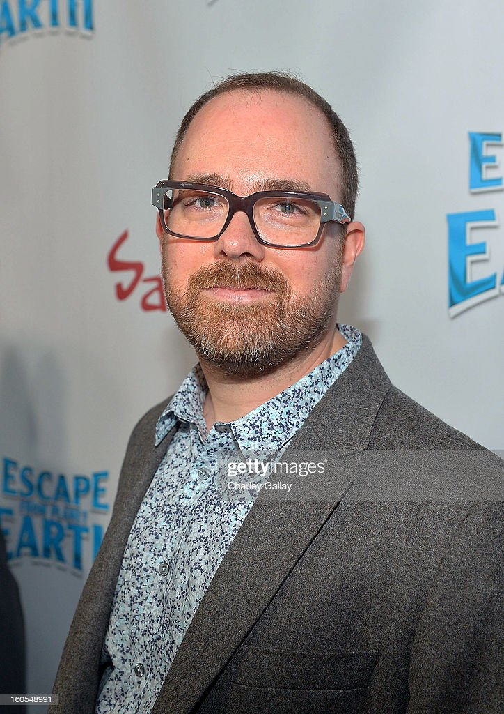 Director Cal Brunker attends the 'Escape From Planet Earth' premiere presented by The Weinstein Company in partnership with Sabra at Mann Chinese 6 on February 2, 2013 in Los Angeles, California.