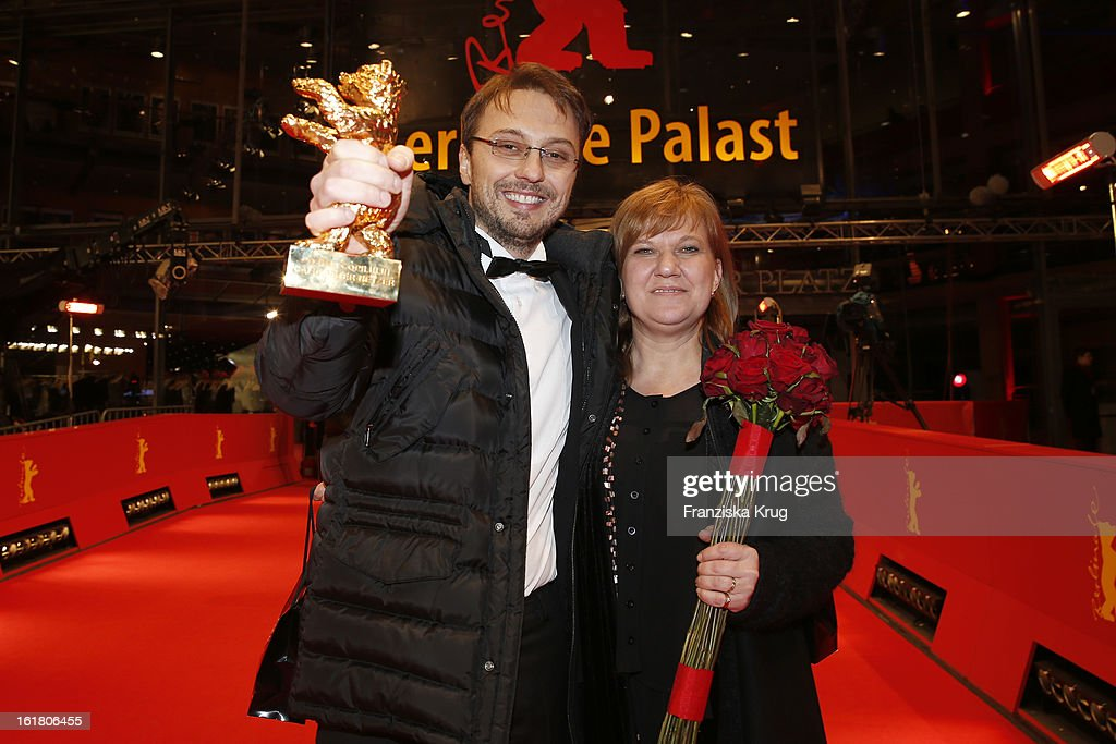 director Calin Peter Netzer and Ada Solomon attend the Closing Ceremony Red Carpet Arrivals BMW At The 63rd Berlinale International Film Festival at...