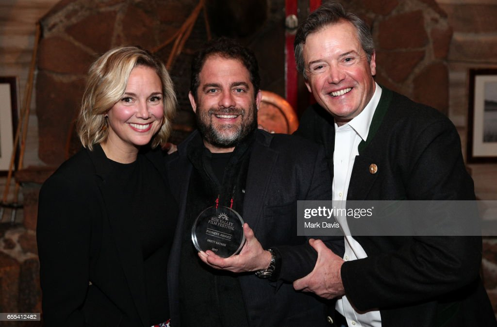 Director Candice Pate, Film Director Brett Ratner and Executive Director Teddy Grennan pose during the 2017 Sun Valley Film Festival 'Vision Award Dinner' on March 18, 2017 in Sun Valley, Idaho.
