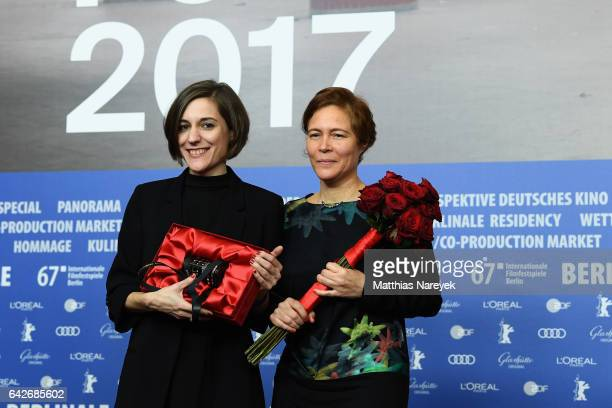 Director Carla Simon and producer Valerie Delpierre winners of the the International Jury Generation Kplus award attend the award winners press...