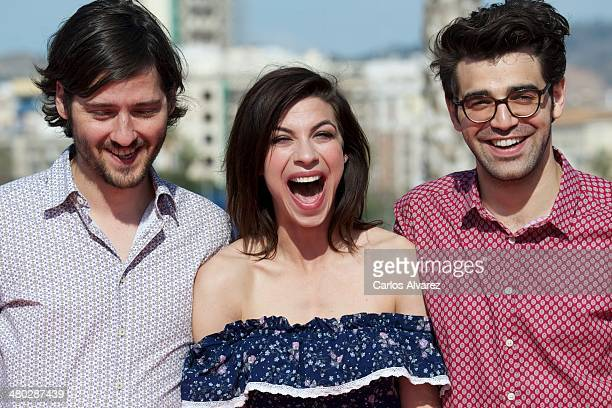 Director Carlos Marques Marcet actress Natalia Tena and actor David Verdaguer attend the '10000 Km' photocall during the 17th Malaga Film Festival...