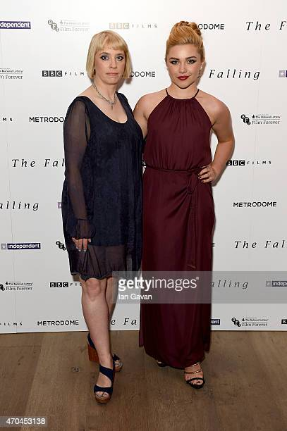 Director Carol Morley and actress Florence Pugh attend the London gala screening of 'The Falling' at Ham Yard Hotel on April 20 2015 in London England