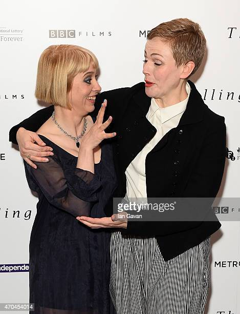 Director Carol Morley and actress Maxine Peake attend the London gala screening of 'The Falling' at Ham Yard Hotel on April 20 2015 in London England
