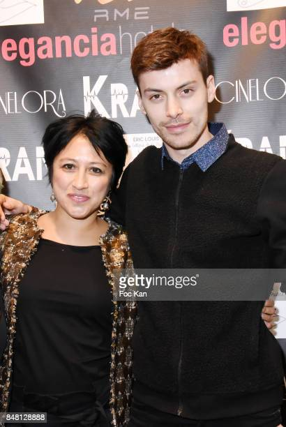 Director Caroline Chu and actor Mickael Winum attend 'Krank' Film Screening at Cinema La Clef on September 16 2017 in Paris France