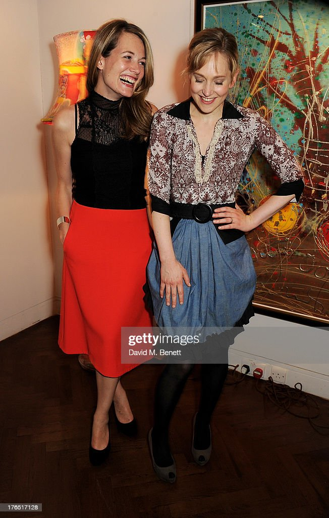 Director Carrie Cracknell (L) and Hattie Morahan attend an after party following the press night performance of 'A Doll's House' at The Hospital Club on August 14, 2013 in London, England.